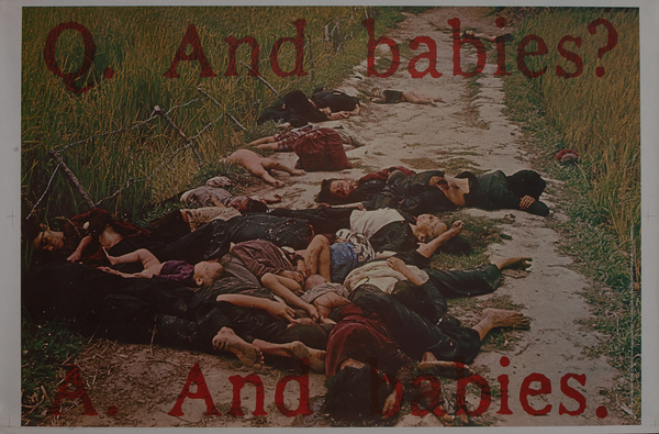 Q. And Babies? A. And Babies<br>Original My Lai Anti-Vietnam War Protest Poster