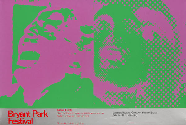 Bryant Park Festival Poster Pink Green