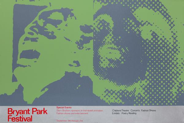 Bryant Park Festival Poster Green Silver