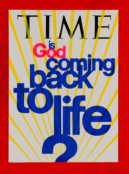 Time Magazine, Is God Coming Back to Life Pop Poster
