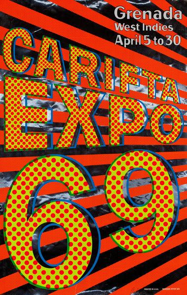 Grenada West Indies Carifta Expo 69 Poster