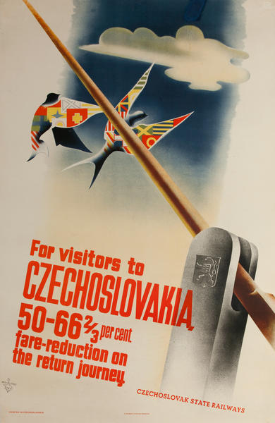 For Visitors to Czechoslovakia - Czechoslovak Railways Travel Poster
