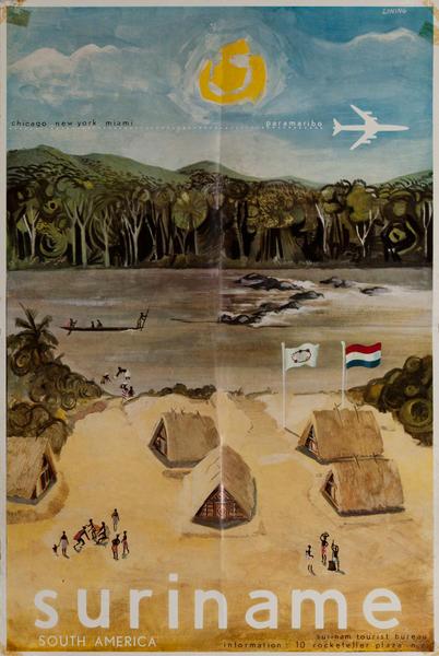 Suriname South America Tourist Bureau Travel Poster