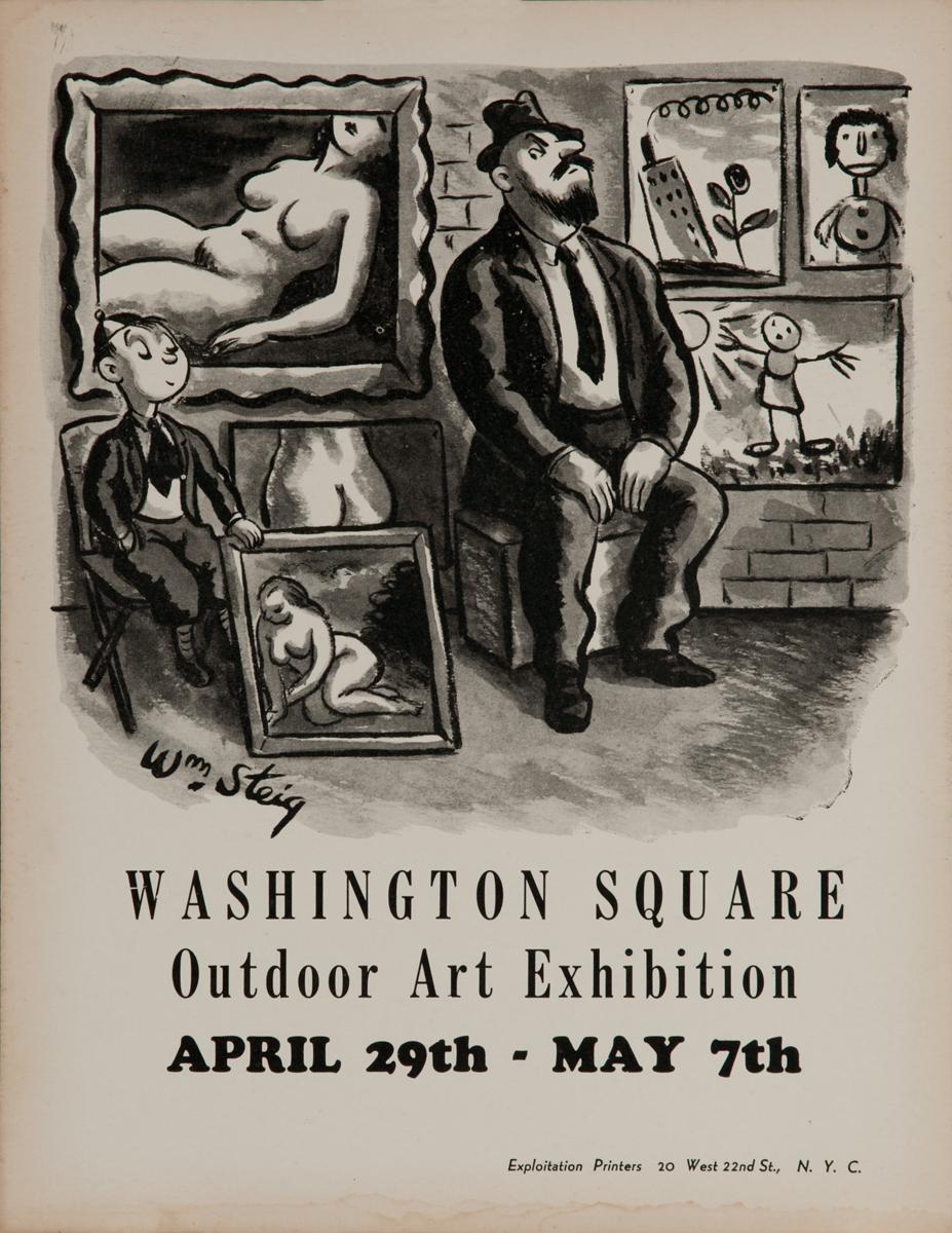 Washington Square Outdoor Art Exhibition, New York City Art Poster, Wm Steig