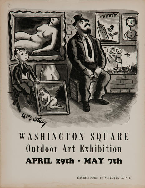 Washington Square Art Exhibition, New York City Art Poster, Wm Steig