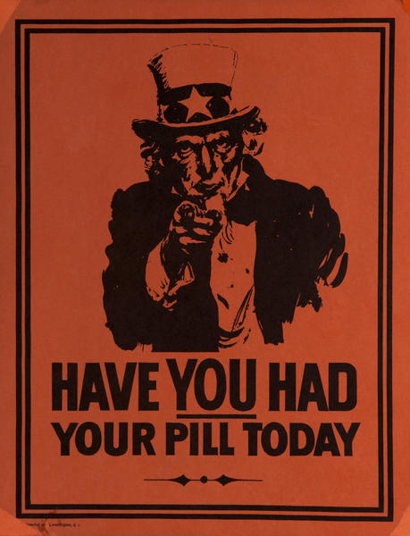 Have You Had Your Pill Today Uncle Sam Poster