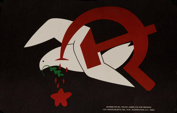 Dove with Hammer and Sickle Vietnam War Protest Poster