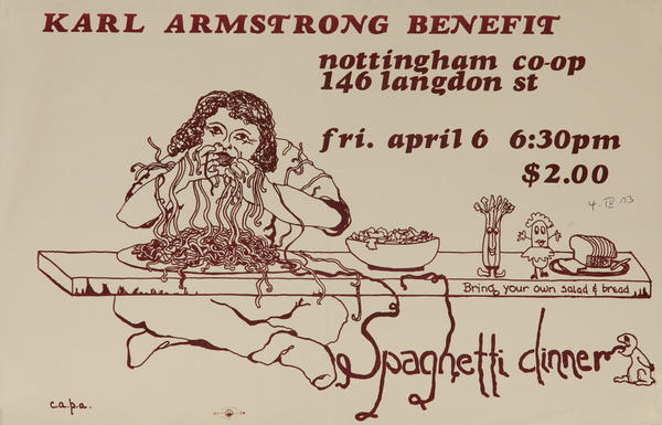 Karl Armstrong Benefit Vietnam War Protest Poster