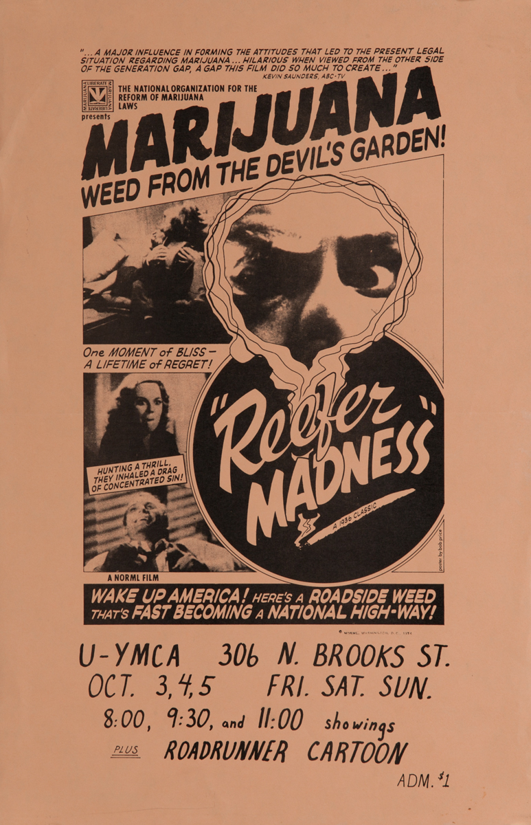 Marijuana Weeds from the Devil's Garden<br>Reefer Madness College Movie Poster