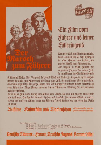 Der Marsch zum Führer WWII German Movie Poster
