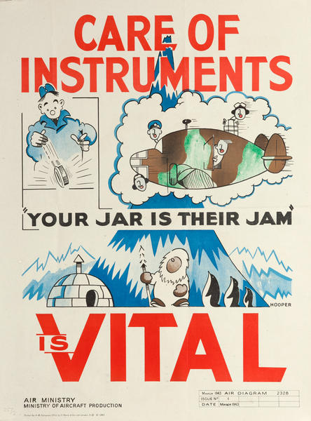 Care of Instruments is Vital, British WWII Poster