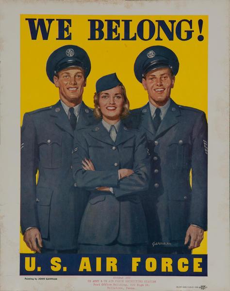 We Belong! U.S. Air Force<br>Korean War Recruiting Poster