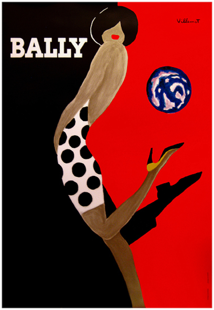 Bally Kick French Shoe Advertising Poster