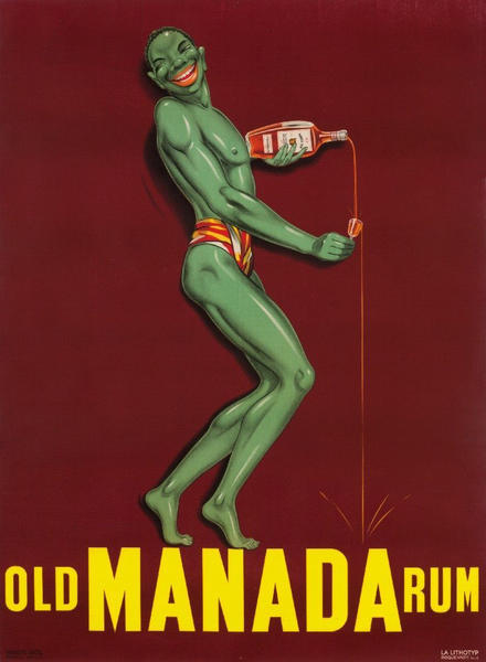 Old Manada Rum<br>French Advertising Poster