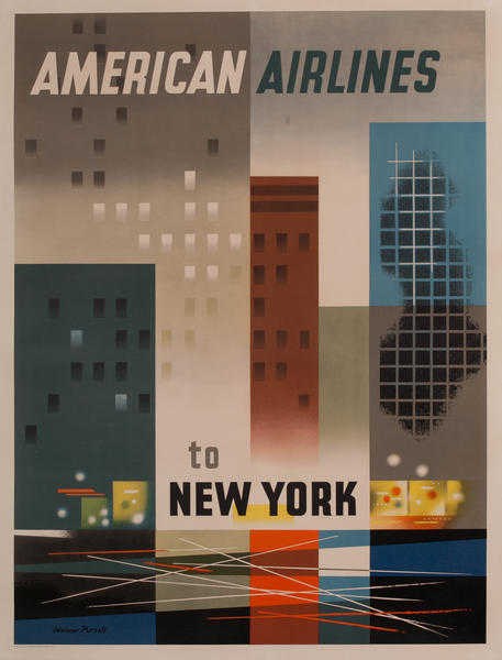 American Airlines to New York Travel Poster