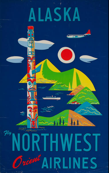 Alaska Fly Northwest Orient Airlines Totem Pole