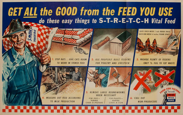 Get all the Good from the Feed you use. WWII Purina Poster