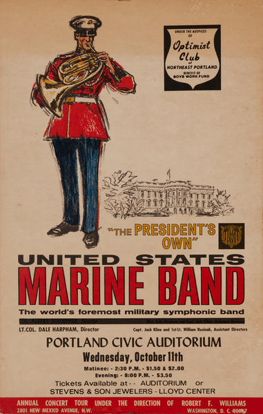 The President's Own, Unites States Marine Band, Concert Poster