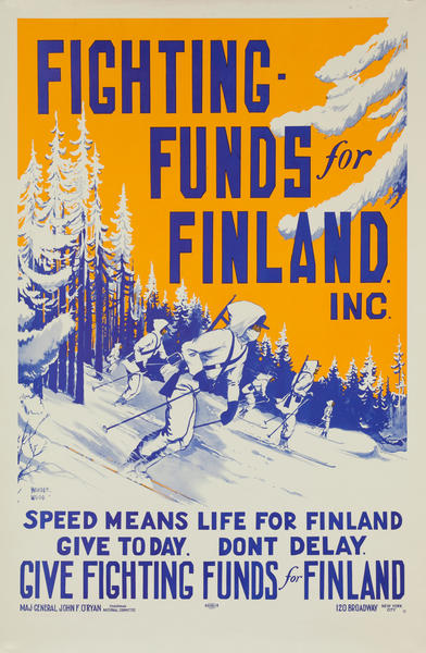 Fighting Funds for Finland Inc <br>WWII Poster