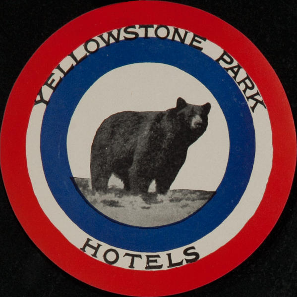 Yellowstone Park Hotels Luggage Label