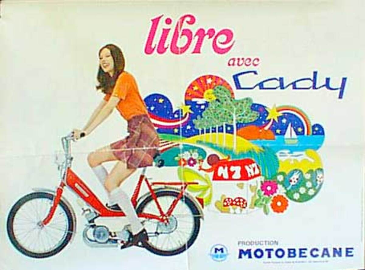 Cady Libre Scooter Original Vintage Poster