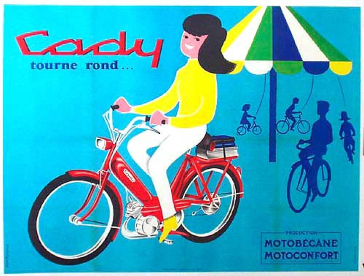 Cady Umbrella Original Vintage Poster
