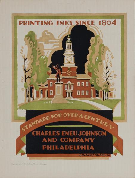 Charles Eneu Johnson and Company Printing Inks Advertising Page