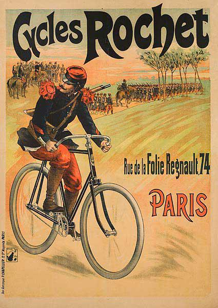 Cycles Rochet Original French Bicycle Advertising Poster