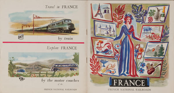 Travel in France 1951 French Brochure
