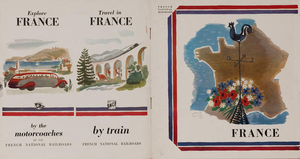 Travel in France 1950 French Brochure