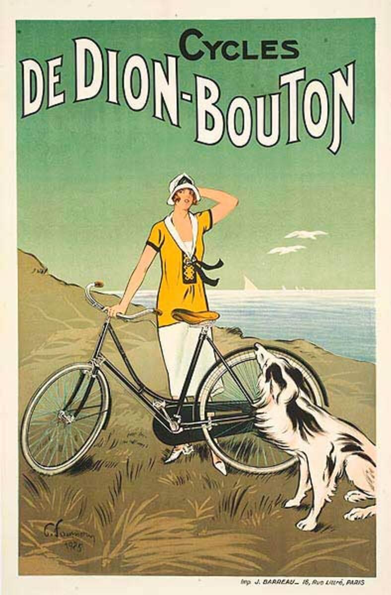 De Dion Bouton Bicycles Original Vintage Advertising Poster