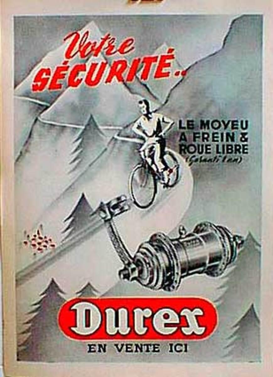 Durex Original Vintage Poster
