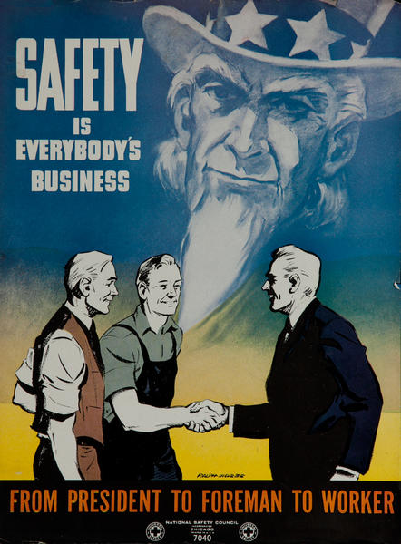 National  Safety Council  Poster <br>Safety is Everyone's Business Uncle Sam