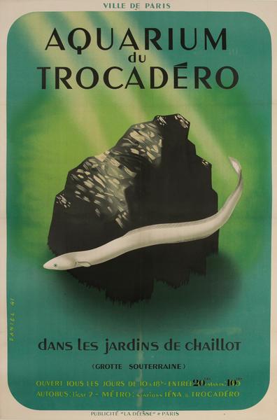 Aquarium du Trocadero dans les Jardins de Chailot French Poster