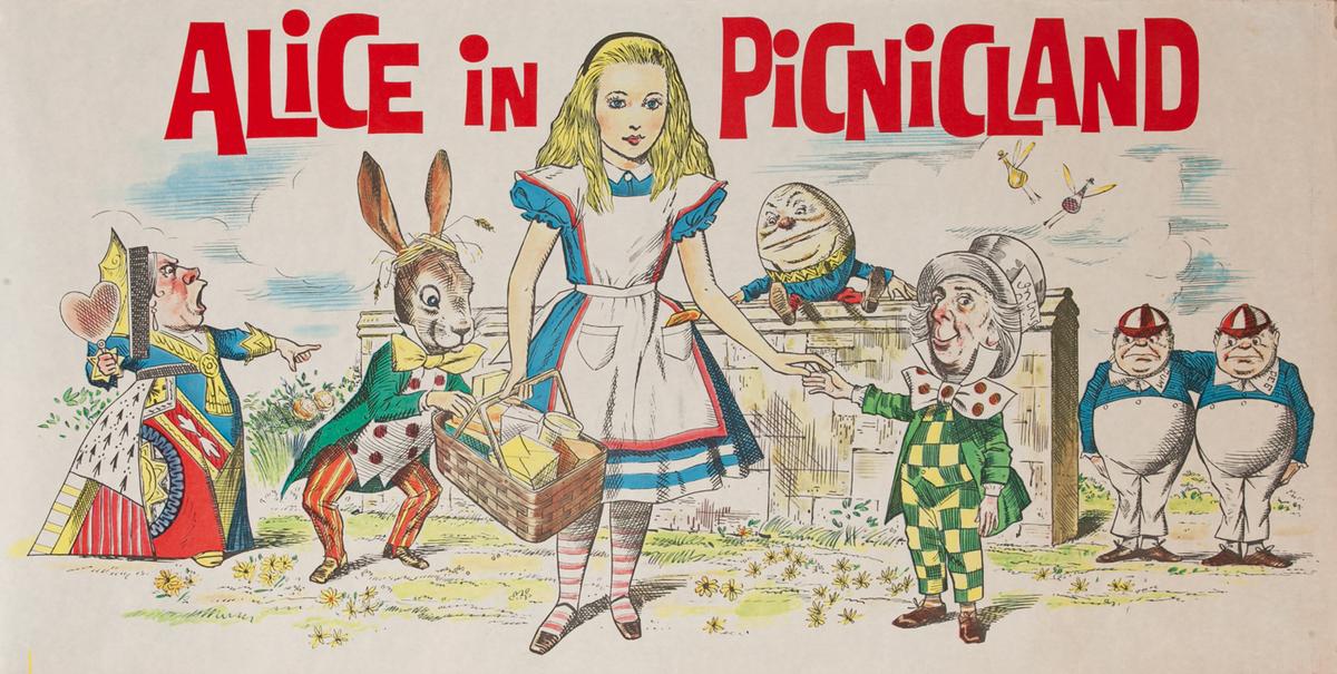 Alice in Picnicland Fun Child's Poster