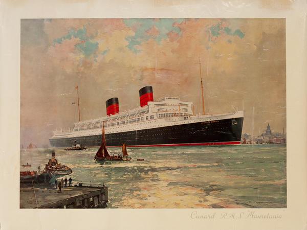 Cunard RMS Mauretania Cruise Ship Poster