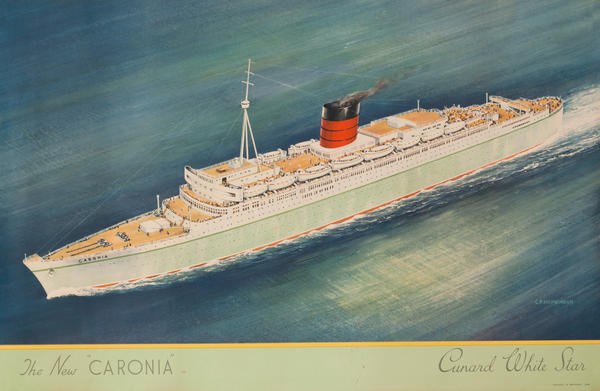 Cunard White Star - The New Caronia Cruise Line Poster