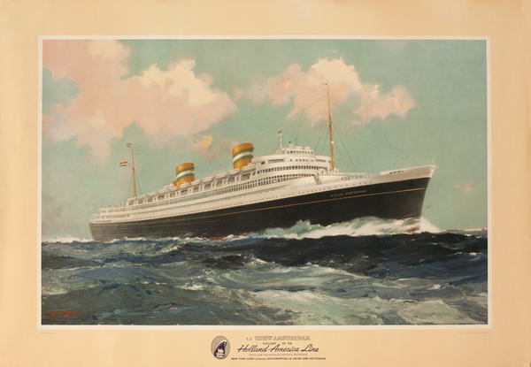 SS Nieuw Amsterdam, Flagship of the Holland-America Line Cruise Poster
