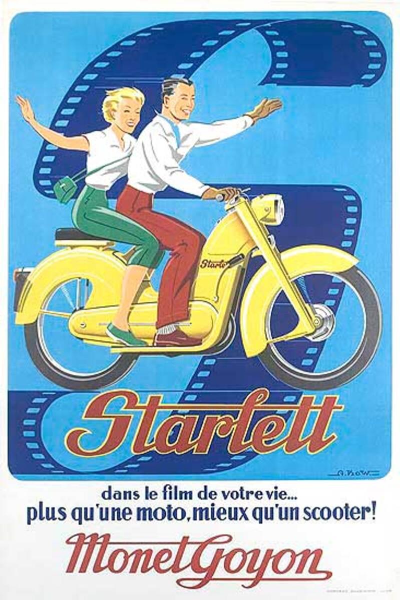 Starlett Scoter Original Vintage Poster