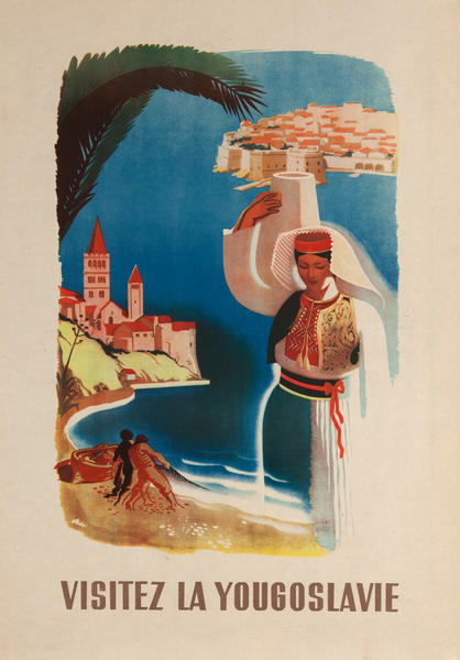 Visitez la Yougoslavie Travel Poster