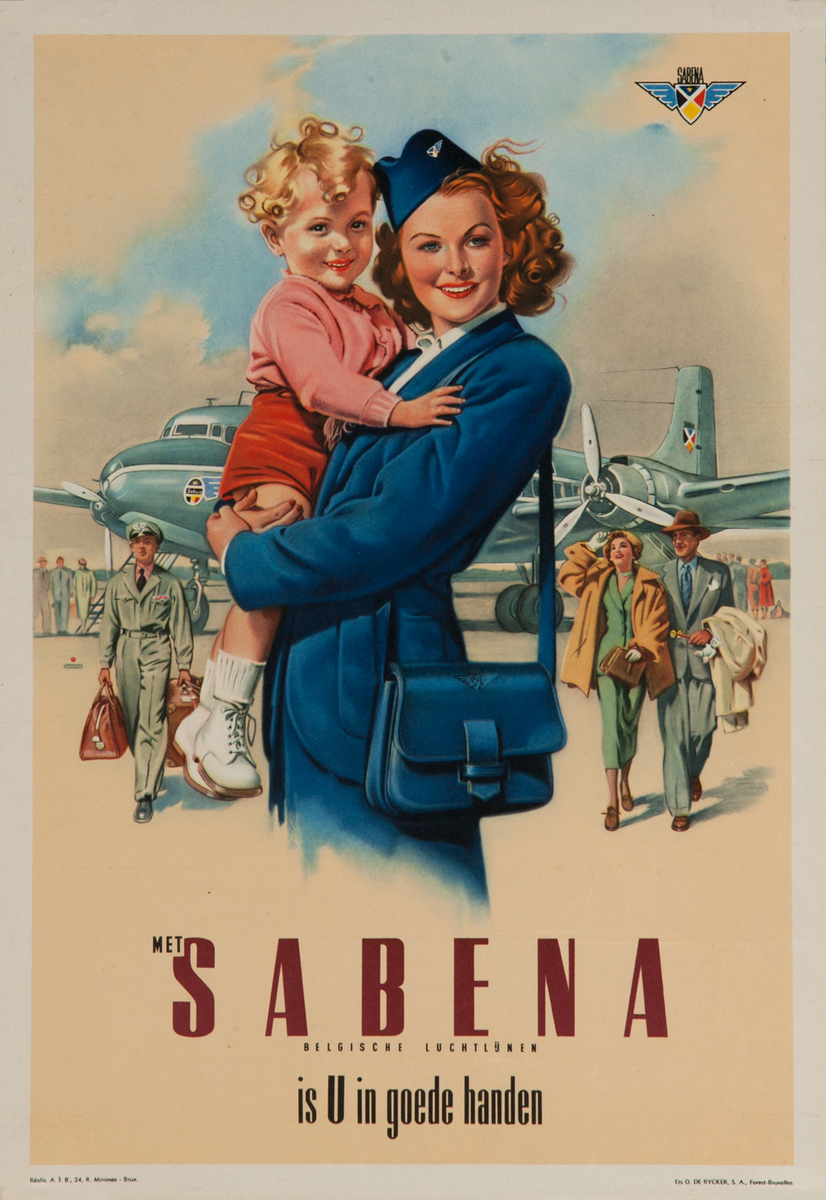 Net Sabena is U in Goede Handen, small sized travel poster