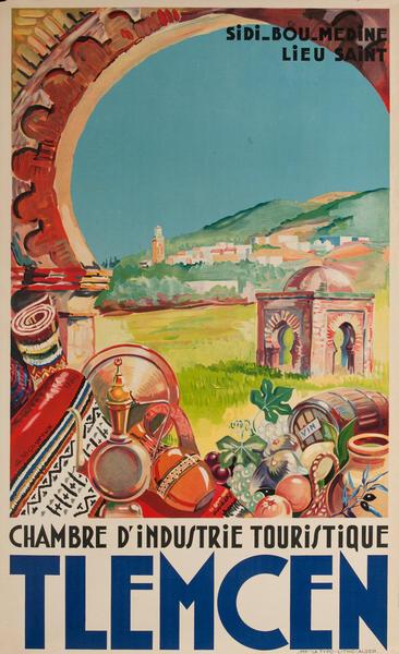 Tlemcen Algeria Travel Poster