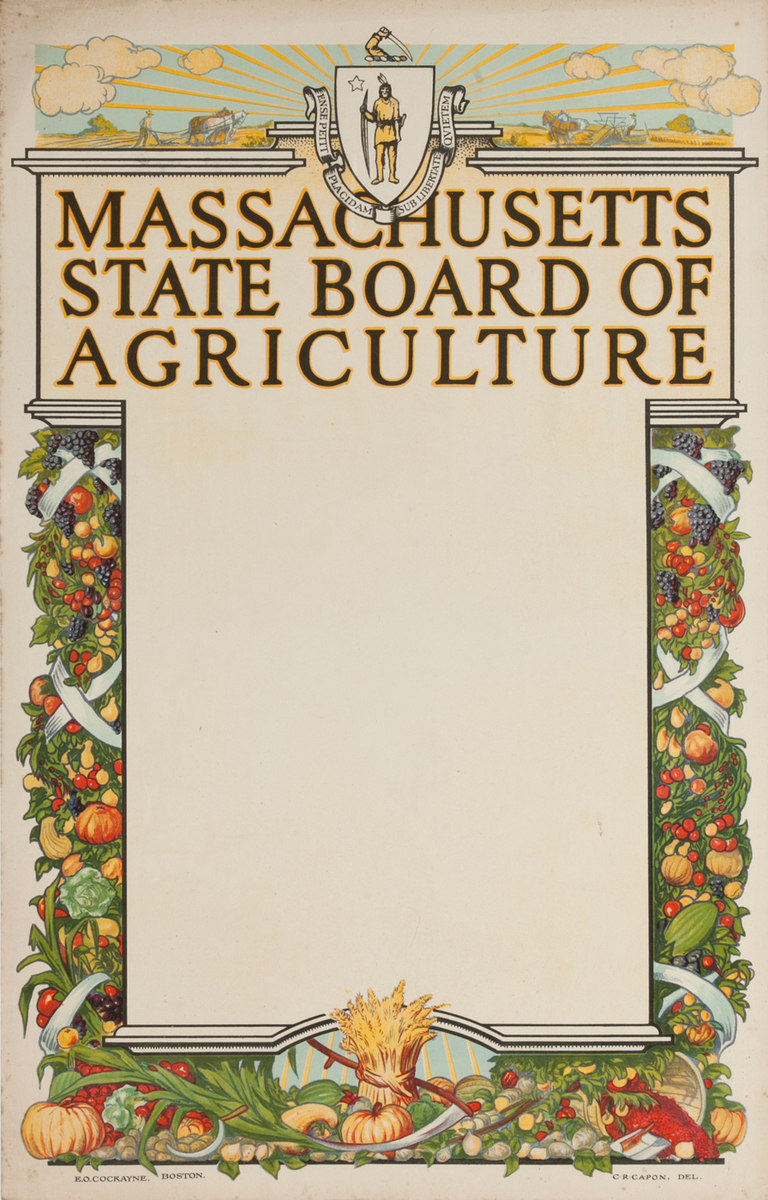 Massachusetts State Board of Agriculture Stock Poster