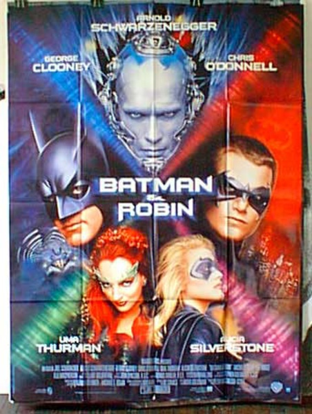 Batman and Robin French Release Original Movie Poster
