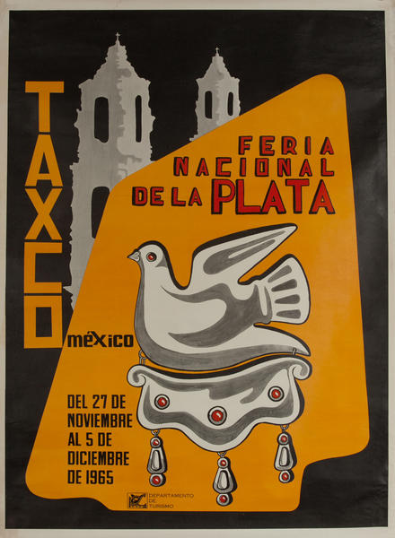 Feria National de la Plata Taxco Mexico Travel Poster