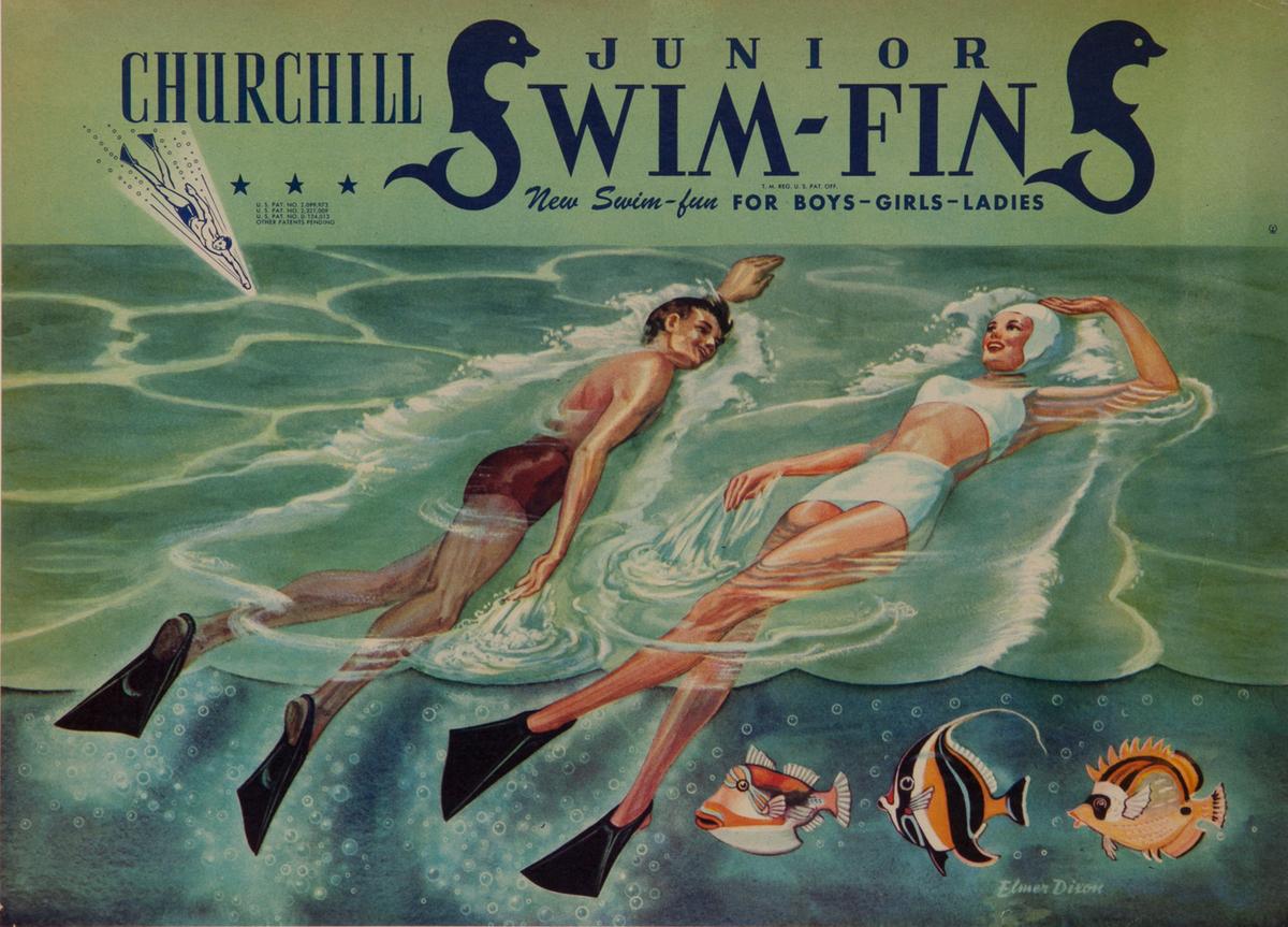Churchill Junior Swim Fins for Boys-Girls-Ladies