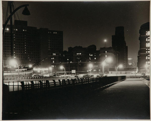 Al Macy Vintage Silver Gelatin Print, New York Street Night Scene