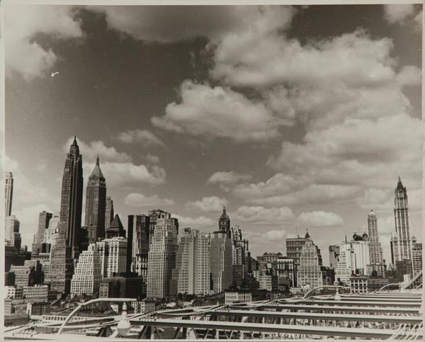 Al Macy Vintage Silver Gelatin Print, New York Skyline