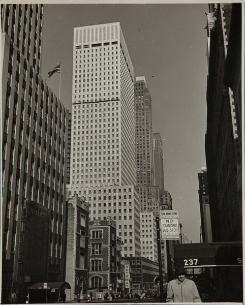 Al Macy Vintage Silver Gelatin Print, New York City Street Scene