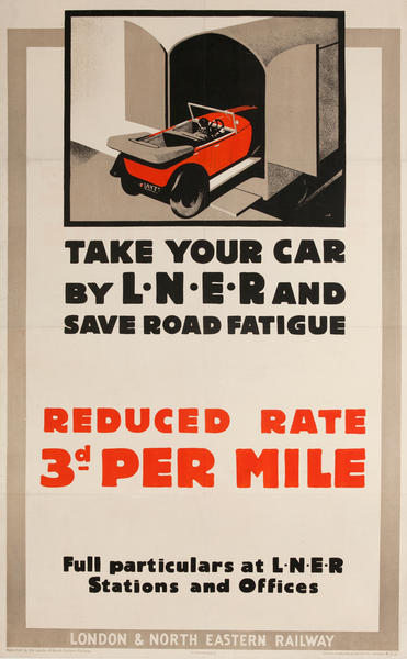 Take Your Car by L•N•E•R British Travel Poster